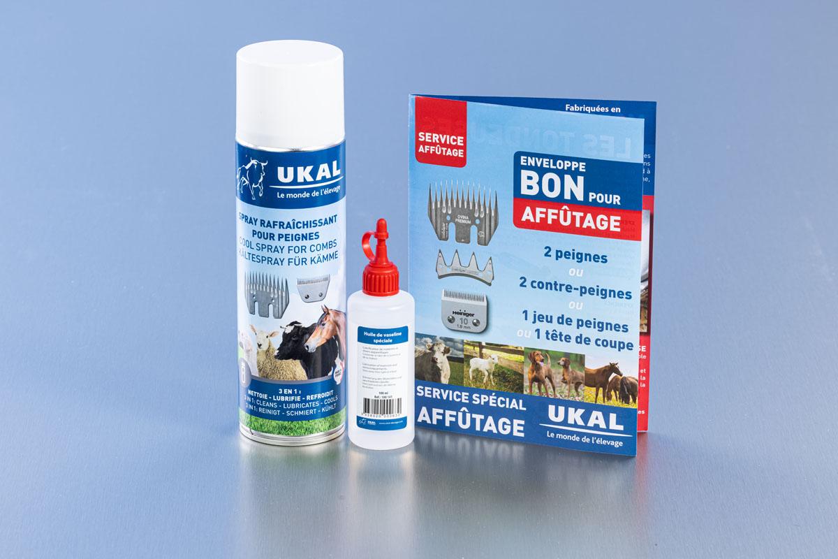 Nous vous conseillons le service après-vente UKAL qui gère depuis de nombreuses années l'affûtage des peignes ainsi que la réparation des tondeuses Heiniger.